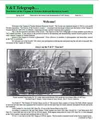 Virginia & Truckee Historical Society newsletter, V&T Telegraph,  Issue 1, Spring 2010