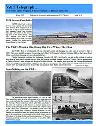 Virginia & Truckee Historical Society newsletter, V&T Telegraph,  Issue 4, Winter 2010