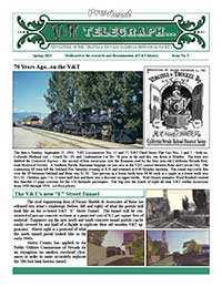 Virginia & Truckee Historical Society newsletter, V&T Telegraph,  Issue 5, Spring 2011