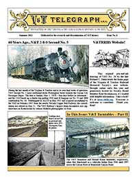 Virginia & Truckee Railroad Historical Society newsletter, V&T Telegraph, Issue 6, Summer 2011